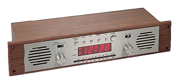 Wall Mounted Wooden Alarm Clock Radio from Well Tech Technology Ind